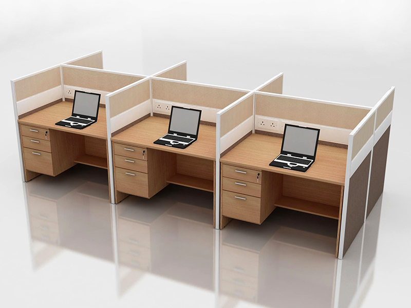 Office cubicle for 6 blocco cz fp 2 system furniture for Interior decoration gst rate