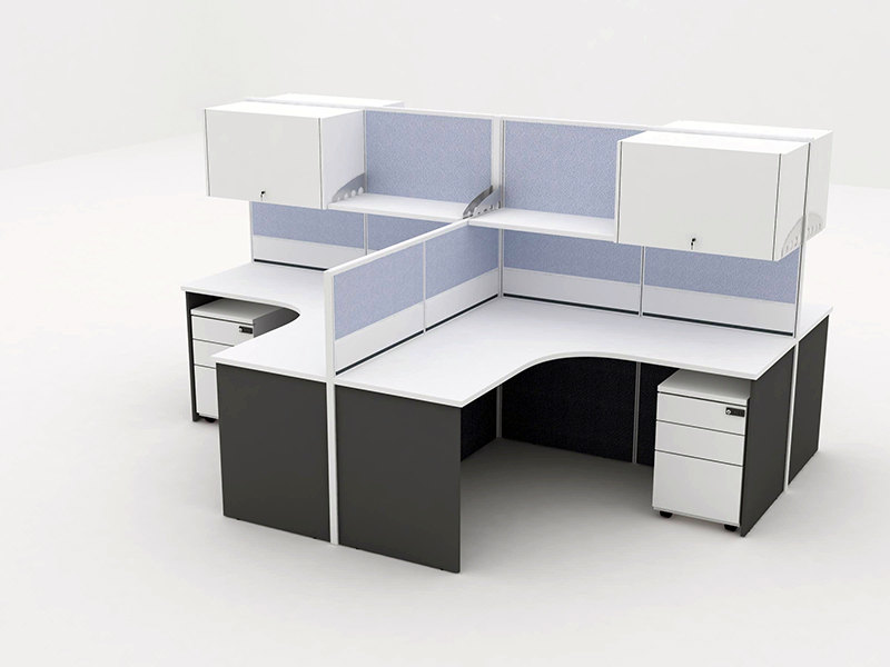 Office Cubicle For 4 Blocco Cz Wp 3 System Furniture