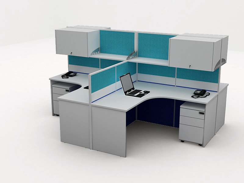 Office Cubicle For 4 Blocco Cz Wp 3a System Furniture