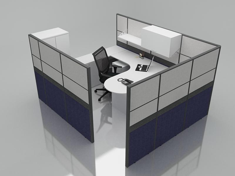Office Cubicle for 1 Person - BLOCCO-CZ-FP-3