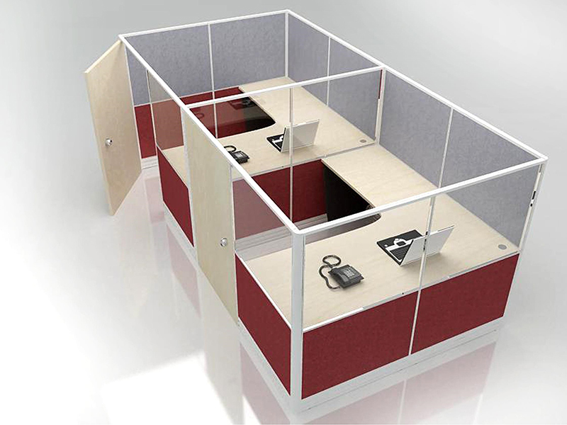 Office Cubicle for 2 Person - BLOCCO-CZ-FP-4