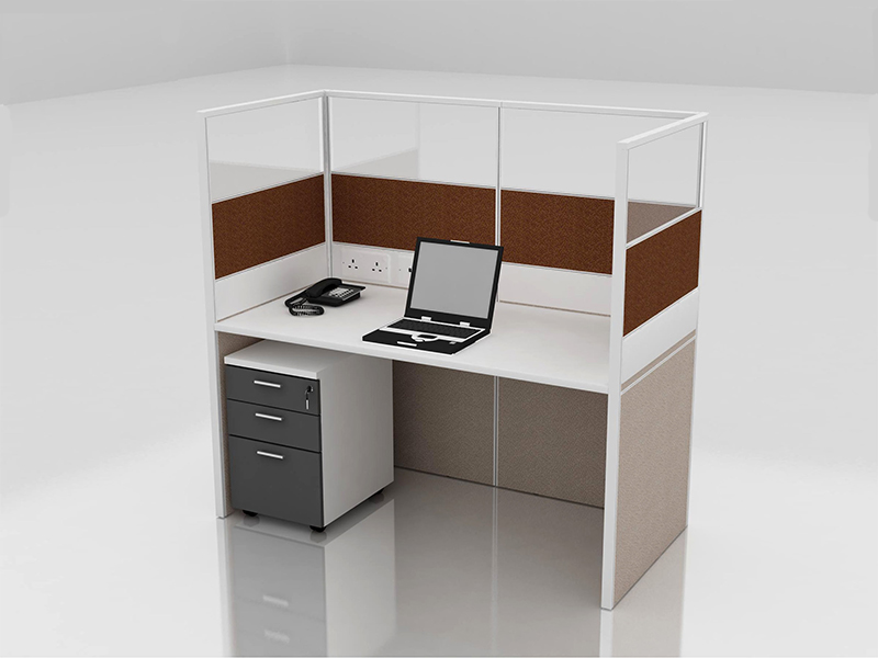 Office Cubicle for 1 Person - BLOCCO-CZ-FP-5