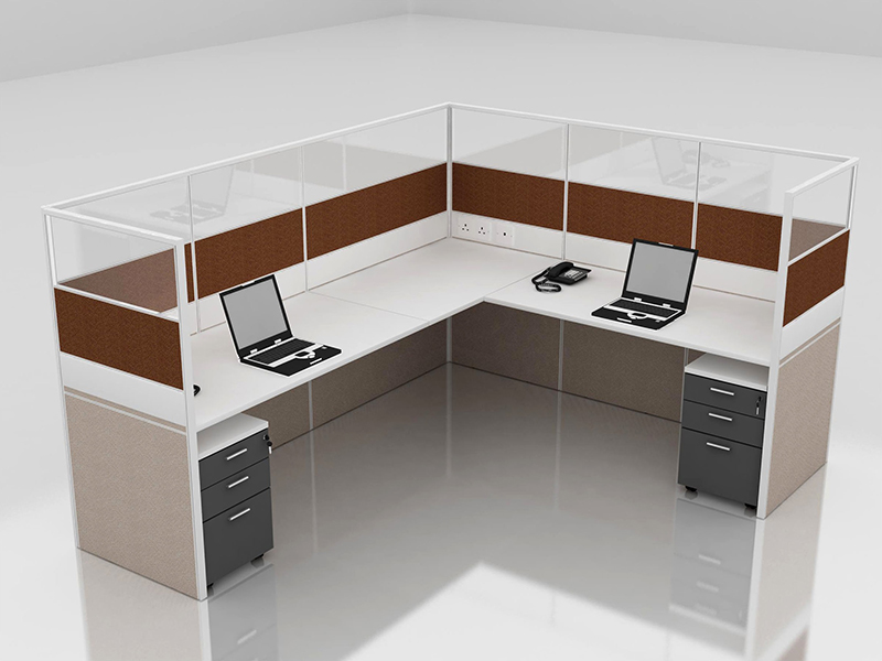 Office Cubicle for 2 Person - BLOCCO-CZ-FP-6