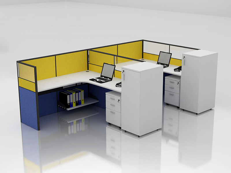 Office Cubicle for 2 Person - BLOCCO-CZ-WP-12