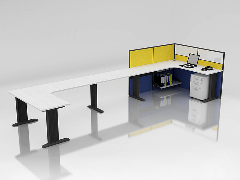 Office Cubicle for 1 Person - BLOCCO-CZ-WP-13