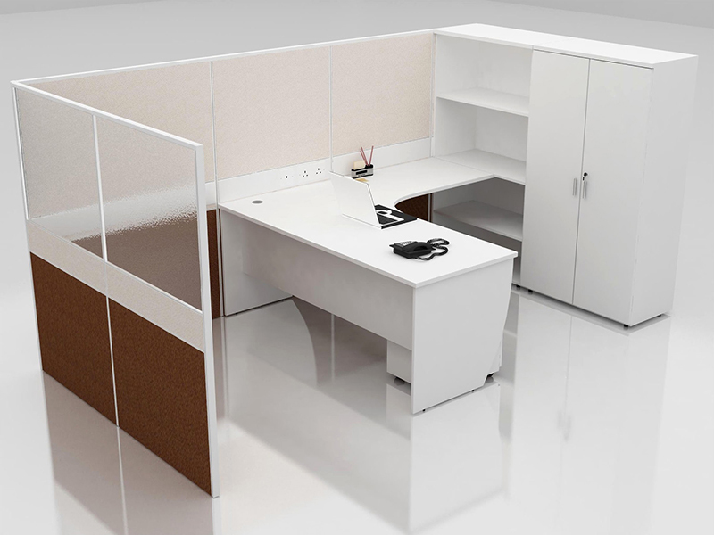 Office Cubicle for 1 Person - BLOCCO-CZ-WP-16