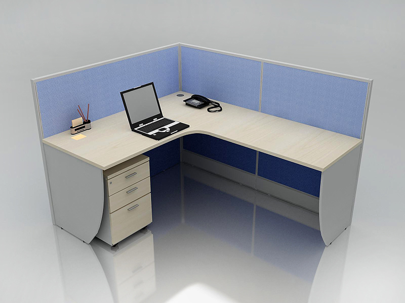 Office Cubicle for 1 Person - BLOCCO-CZ-WP-4