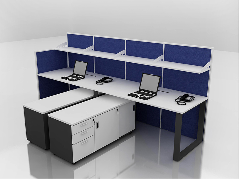 Office Cubicle for 2 Person - BLOCCO-VIVO2-1A