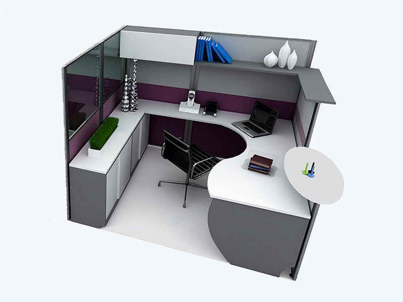 Office Cubicle for 1 Person - CSF-G02
